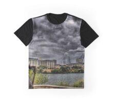 Steve Ray Vaughan statue, Austin, Texas Graphic T-Shirt