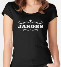 Jakobs White Women's Fitted Scoop T-Shirt