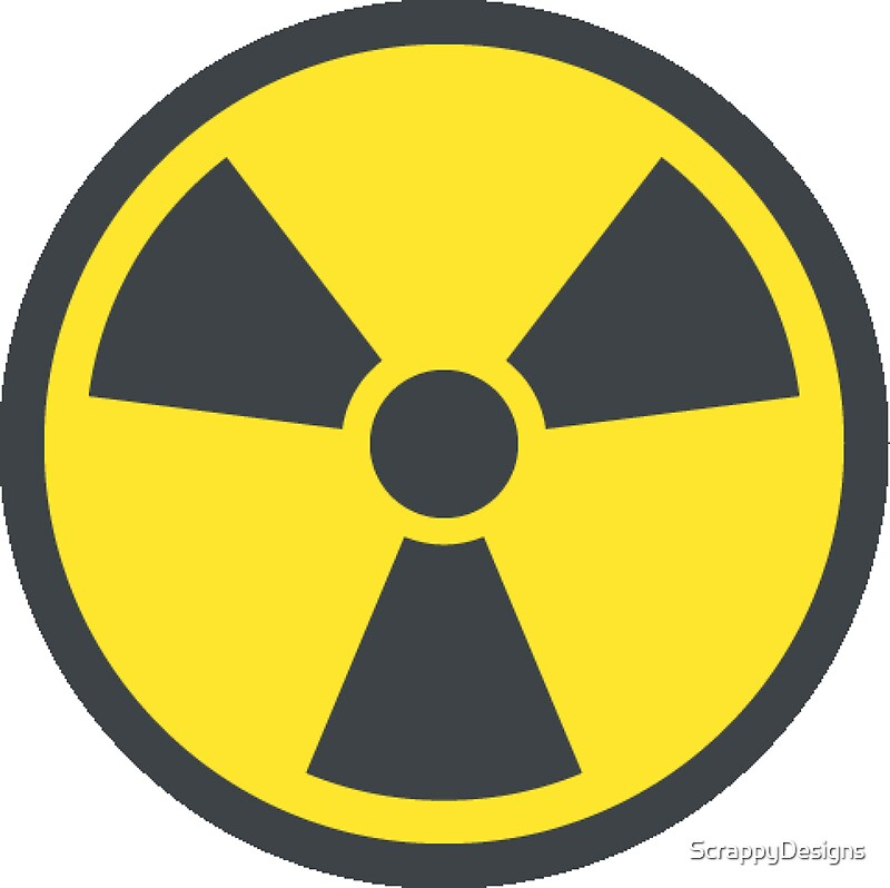 Radiationradioactive Symbol Stickers By Scrappydesigns Redbubble