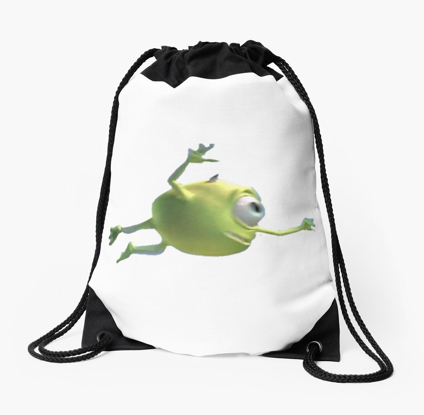 Blurry Mike Wazowski Drawstring Bags By Chiliboyo Redbubble