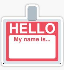 Name Badge Emoji Sticker