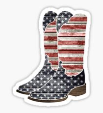Patriotic Cowboy Boots Sticker