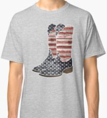 Patriotic Cowboy Boots Classic T-Shirt