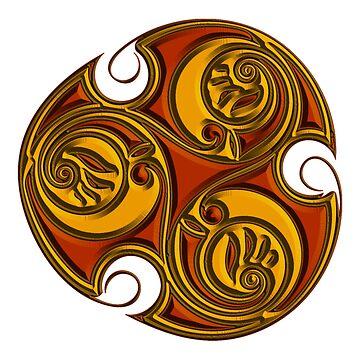 Triskele Shield-Gold by CapallGlas