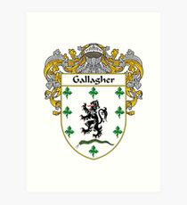 Gallagher Coat of Arms/Family Crest Art Print