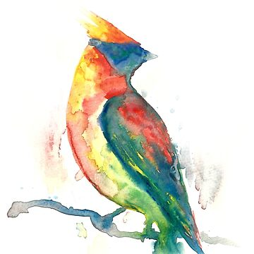 Watercolor Bird by kalantix