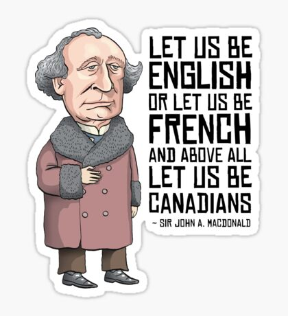 John A. Macdonald Sticker