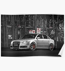 Sky Performance Audi RS4 Poster