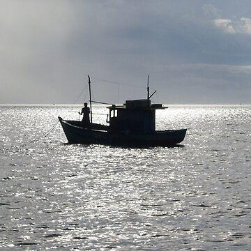 Lonely Fisherman by herbertshin