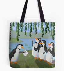 Singing Practice - Penguins Mary Poppins Tote Bag