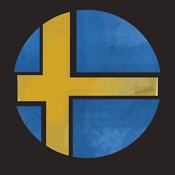 Sweden ball flag by herbertshin