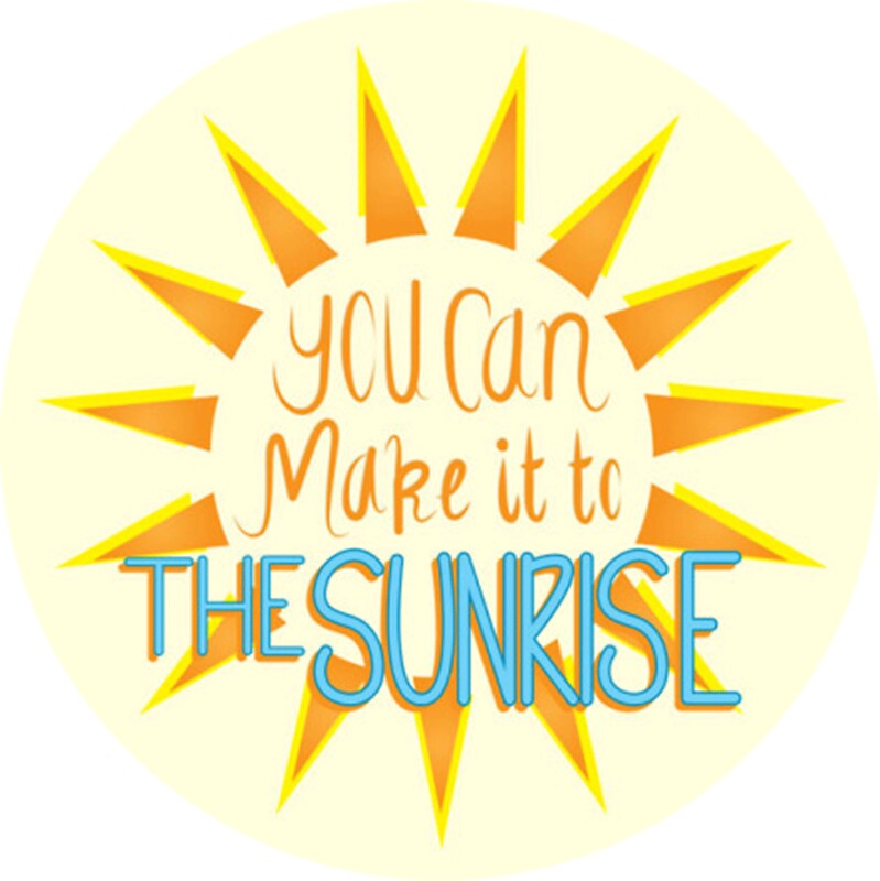 you can make it to the sunrise stickers by ldeitch redbubble. Black Bedroom Furniture Sets. Home Design Ideas