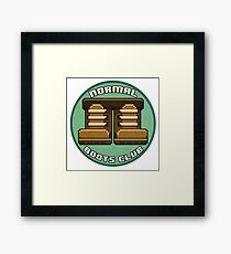 Normal Boots Club Patch Framed Print