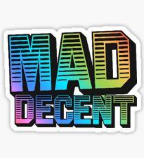 MAD DECENT Sticker Sticker
