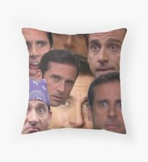 The Many Faces of Michael Gary Scott Throw Pillow