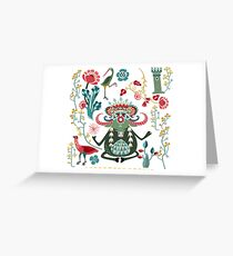 Bull Kharma Greeting Card