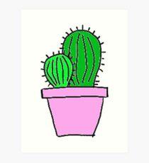 Tumblr Cactus Drawing Art Prints Redbubble