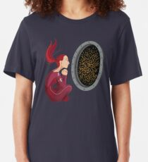 Quiet Time in Space Slim Fit T-Shirt