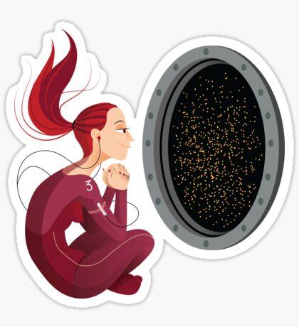 Quiet Time in Space Sticker
