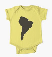 South America simple shape map Kids Clothes