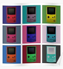 Gameboy Warhol Poster