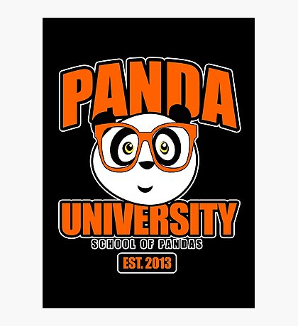 Panda University - Orange 2 Photographic Print