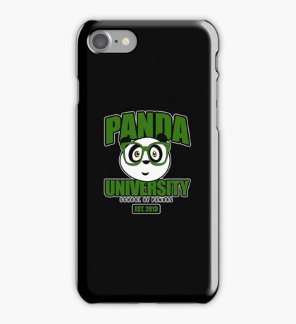 Panda University - Green 2 iPhone Case/Skin