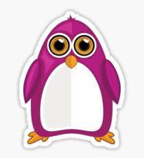 Violet Penguin 2 Sticker