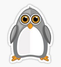 Grey Penguin Sticker