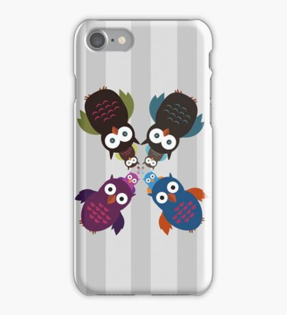 Owl Crowd iPhone Case/Skin
