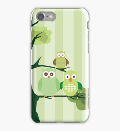 Green Owls iPhone Case/Skin