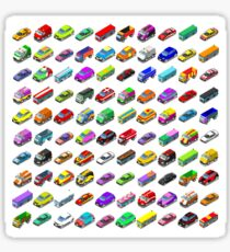 Cars Game Icons Isometric Vehicles Sticker