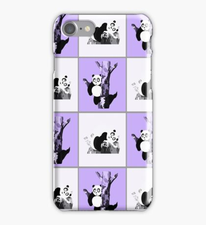 Pandas Checker - Purple iPhone Case/Skin