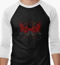 Guns and Roses RED Men's Baseball ¾ T-Shirt