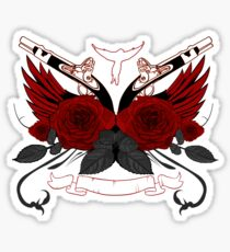 Guns and Roses RED Sticker