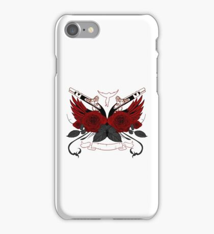 Guns and Roses RED iPhone Case/Skin