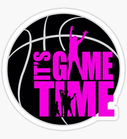 It's Game Time - Pink Sticker