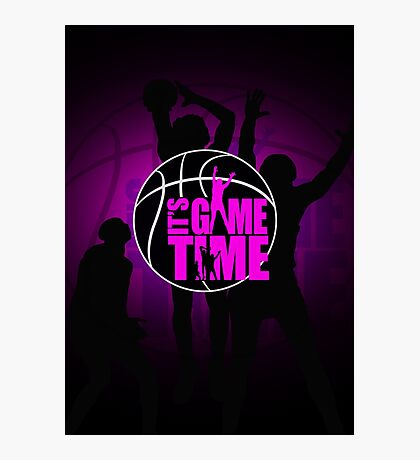 It's Game Time - Pink Photographic Print