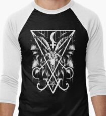 SIGIL OF LUCIFER AND BAPHOMET Men's Baseball ¾ T-Shirt
