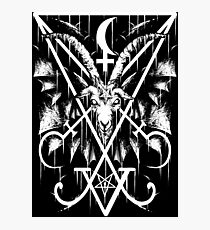 SIGIL OF LUCIFER AND BAPHOMET Photographic Print