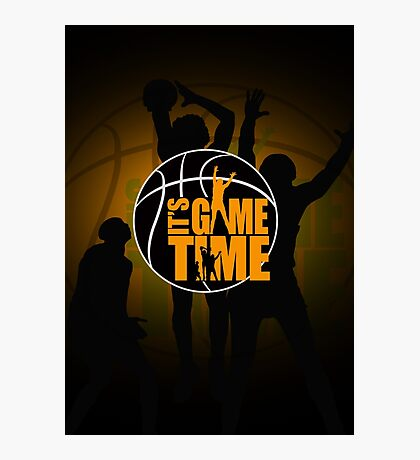 It's Game Time - Yellow Photographic Print