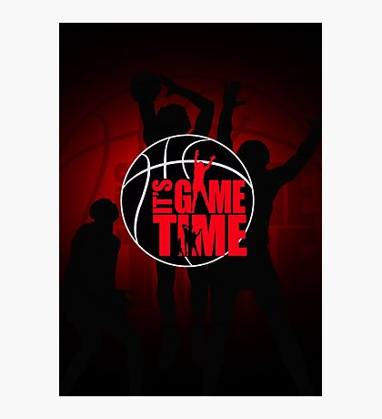 It's Game Time - Red Photographic Print