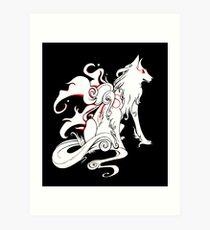 Okami - Amaterasu, goddess of sun and light Art Print