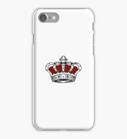 Crown - Red iPhone Case/Skin