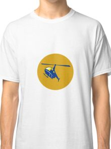 Helicopter Chopper Flying Circle Retro Classic T-Shirt