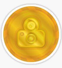 Photography Camera Gold Coin Medallion Sticker