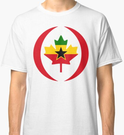Ghanaian Canadian Multinational Patriot Flag Series Classic T-Shirt