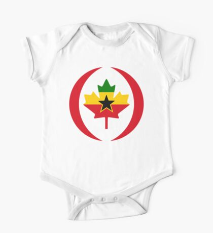 Ghanaian Canadian Multinational Patriot Flag Series Kids Clothes