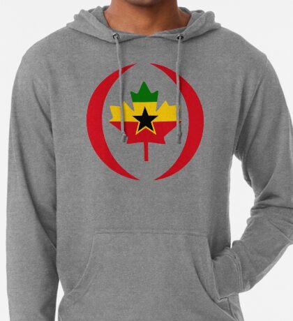 Ghanaian Canadian Multinational Patriot Flag Series Lightweight Hoodie