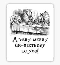 A very merry un-birthday! Sticker